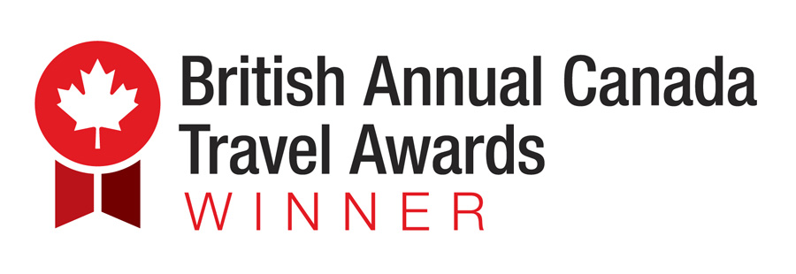British Annual Canada Travel Awards 2017 Best Online Coverage winner badge.