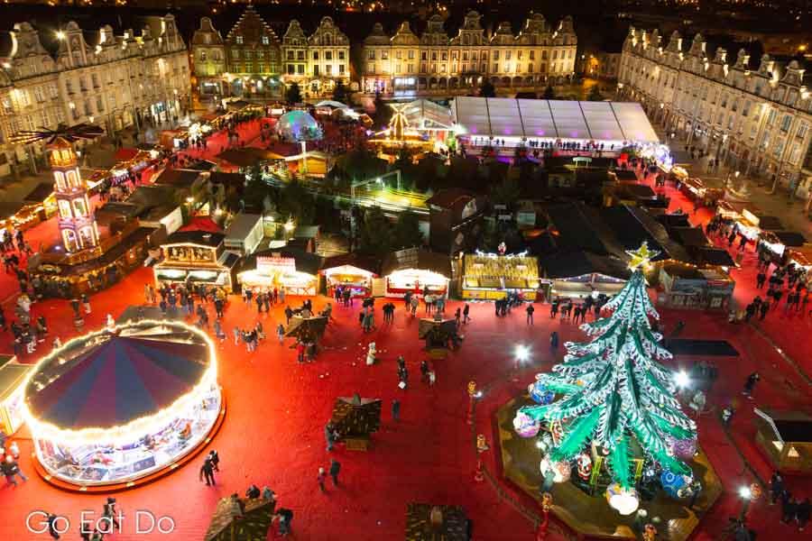 Arras Christmas market in France.